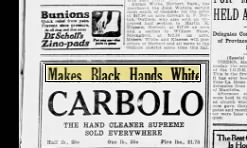 advert for Carbolo soap
